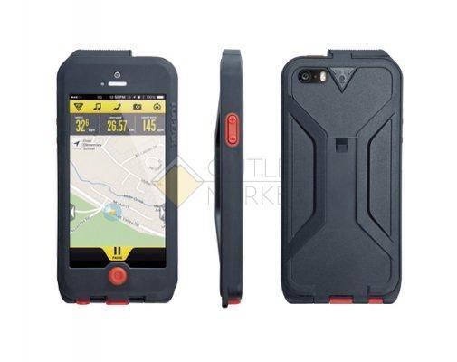 Бокс для телефона TOPEAK Водонепроницаемый с креплением для iPhone 5 чёрный красный