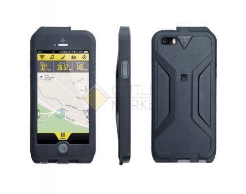 Бокс для телефона TOPEAK Водонепроницаемый с креплением для iPhone 5 чёрный серый