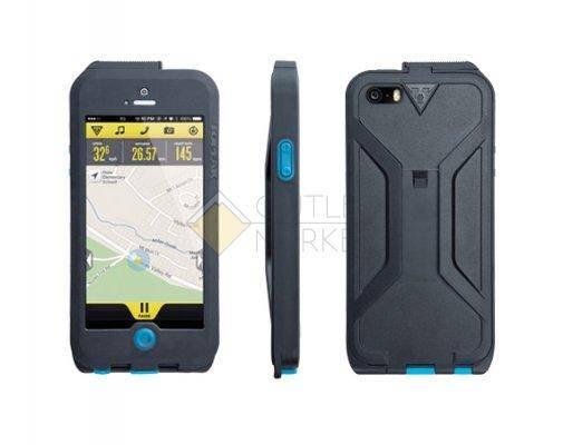 Бокс для телефона TOPEAK Водонепроницаемый с креплением для iPhone 5 чёрный синий