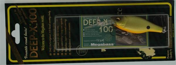 Воблер Megabass Deep-X 100 Strike Chart