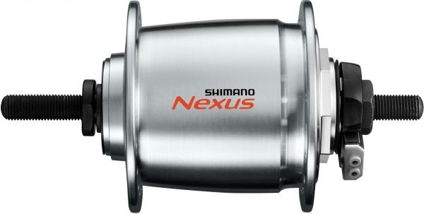 Втулка динамо Shimano C6000 32 отв 6V-3W под роллер под гайки 100x140 мм с SM-DH10 серебро EDHC60003RNENSG