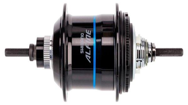 Втулка планетарная Shimano Alfine Di2 S705 36 отверстий 11 скоростей C.Lock 135x187 мм черная ISGS705AL