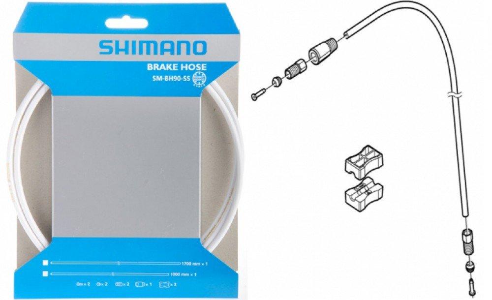 Гидролиния Shimano BH90-SS 1700мм обрезной белый ESMBH90SSW170