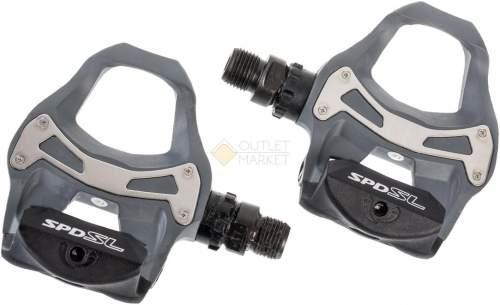 Педали Shimano R550 без отражателей с шипами Серые