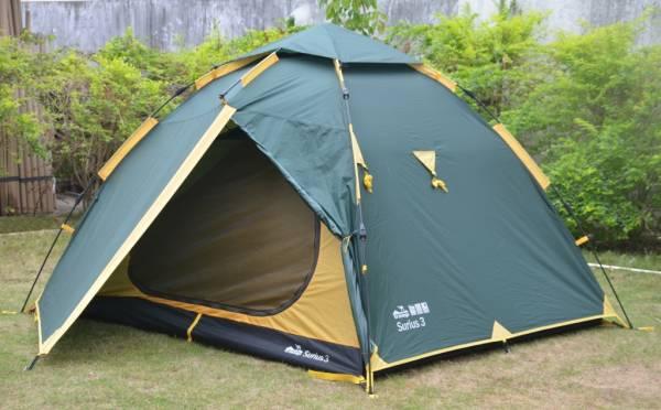 Палатка Tramp  Sirius 3 быстросборная зеленый
