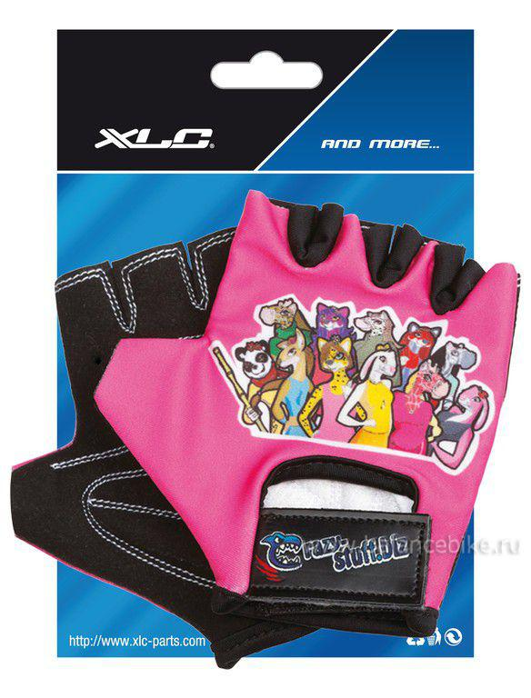 Велоперчатки XCL 2523278300 CHILDREN GLOVES CRAZU STUFF GIRL, р-р XS/S CN8638