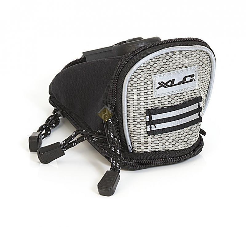 Сумка XLC SADLE BAG QUIK BA-S04, под седло, р-р S, 13х11х7 см, серебр. CN8691